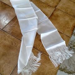 Silk Scarf with fringe x 2