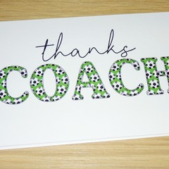 Coach Thank you card - soccer