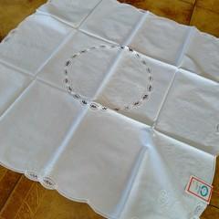 Cotton White table decorative cloths x 4