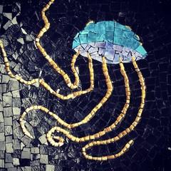 Jellyfish Smalti Mosaic. Wall Hanging.