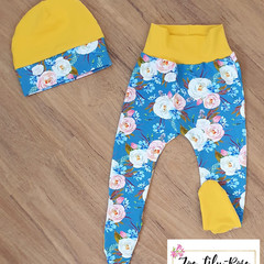 Blue Floral Tighties Set Size 0