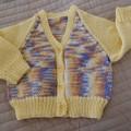 Size 1 yr : Girls cardigan in Multi colour