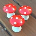Fairy Garden Mushrooms, Set of 3 ,Fairy garden ornaments