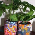 Big Cats and Snakes BrightPot / Fabric Basket/Planter Medium