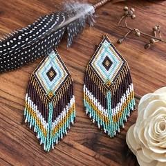 Handmade Statement Beaded Earrings