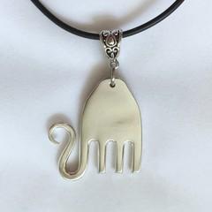 Upcycled Fork Necklace - Elephant
