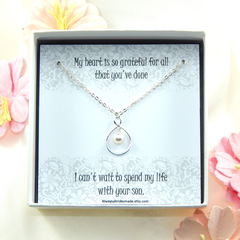 Mother of the Groom Necklace,Mother in Law Thank You Gift,Gift from Bride