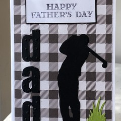 Father Day Handmade Card - golf