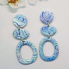 Gorgeous Blue Statement Earrings