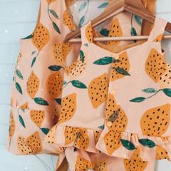 LEMON DAYS Linen top, Matching Mum & Mini Set
