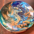 Handmade resin bowl in beautiful blues
