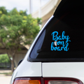 BABY ON BOARD TOES DESIGN  - Vinyl decal sticker