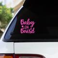 BABY ON BOARD STAR DESIGN  - Vinyl decal sticker