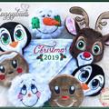 Christmas 'Ruggybud' - personalised, comforter, keepsake, lovey.