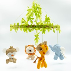 Baby Jungle Mobile - baby shower gift - pick your own colours - made to order -