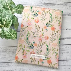 Lovely peaches padded booksleeve & bookmark gift set.