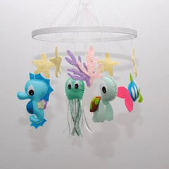 Baby Sea Creatures Mobile - baby shower gift - pick your own colours - made to o