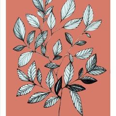 Autumn Leaves Illustration Print
