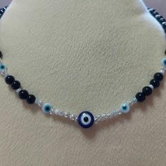 45cm Handmade Evil Eye Beaded Necklace