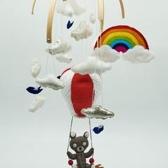 Hot Air Balloon Baby Mobile - Teddy Nursery Decor - Nursery Decor - Baby Nursery