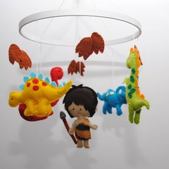 Dinosaur Baby Mobile - baby shower gift - pick your own colours - made to order
