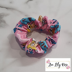Pink Simpsons Scrunchie
