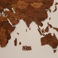 3D world map on canvas with lights.