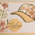 FLORAL HAT Greeting Card  INCLUDES  FFREE POSTAGE