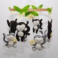 Monkey Baby mobile ~ felt monkey's - felt banana's - crib mobile - made to order
