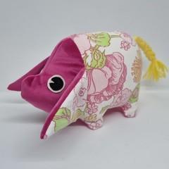 Handmade vintage pig toy softie