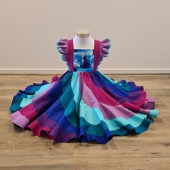 """Anna"" swirly dress - bib style bodice"