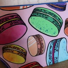 Large Toiletry bag- Macarons