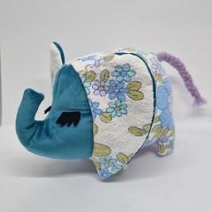 Handmade vintage elephant toy softie