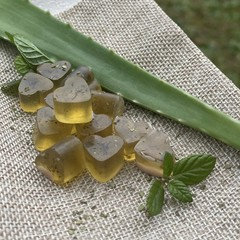 12 x Mini Handmade Aloe Vera Soap with Oregano & Peppermint