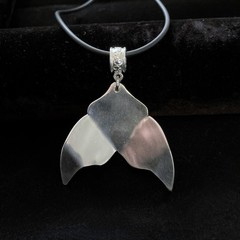 Upcycled Spoon Necklace - Whale Tail