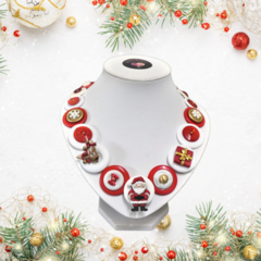 Christmas necklace - Santa and friends.
