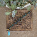 Exotic Copper & Teal Beaded Gypsy Style Bracelet