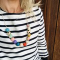 """Hand-painted """"Jazzy Jeff"""" Wooden Necklace!"""