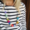 """Hand-painted """"Bobby Dazzler"""" Wooden Necklace!"""