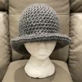 Crochet Brim Hat with Tie