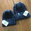 Wool hand knitted Harvest toddler size beanie