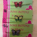 Butterfly bracelets.