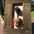 Rustic Framed Pine Cone With Terracotta Pot Wall Art Home Decor Unique Gifts