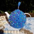Bits and Bead Light Blue Tea Cozy