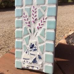 Mosaic Lavender Wall Decor Home Garden Unusual Anniversary Birthday Gifts