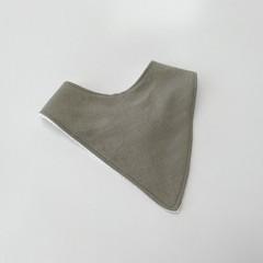 Sage in linen bandana bib
