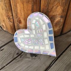 Mosaic Iridescent Heart Wall Art Home Decor Unique Unusual Valentine's Day Gift