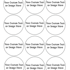 Custom Edible Prints for cupcakes and cookies - 12 rounds precut - Same picture