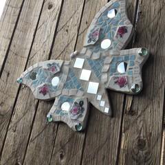 Mosaic Butterfly Garden Wall Art Home Decor Unique Gifts