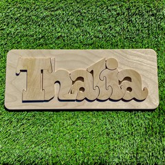 Personalised RAW Wooden Name Puzzles
